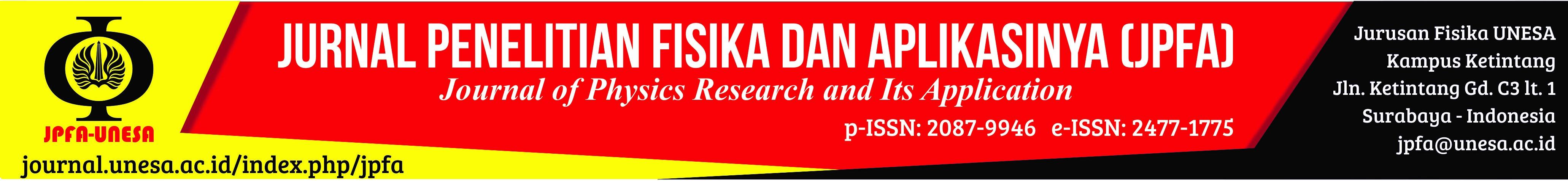 Jurnal Penelitian Fisika dan Aplikasinya (JPFA)