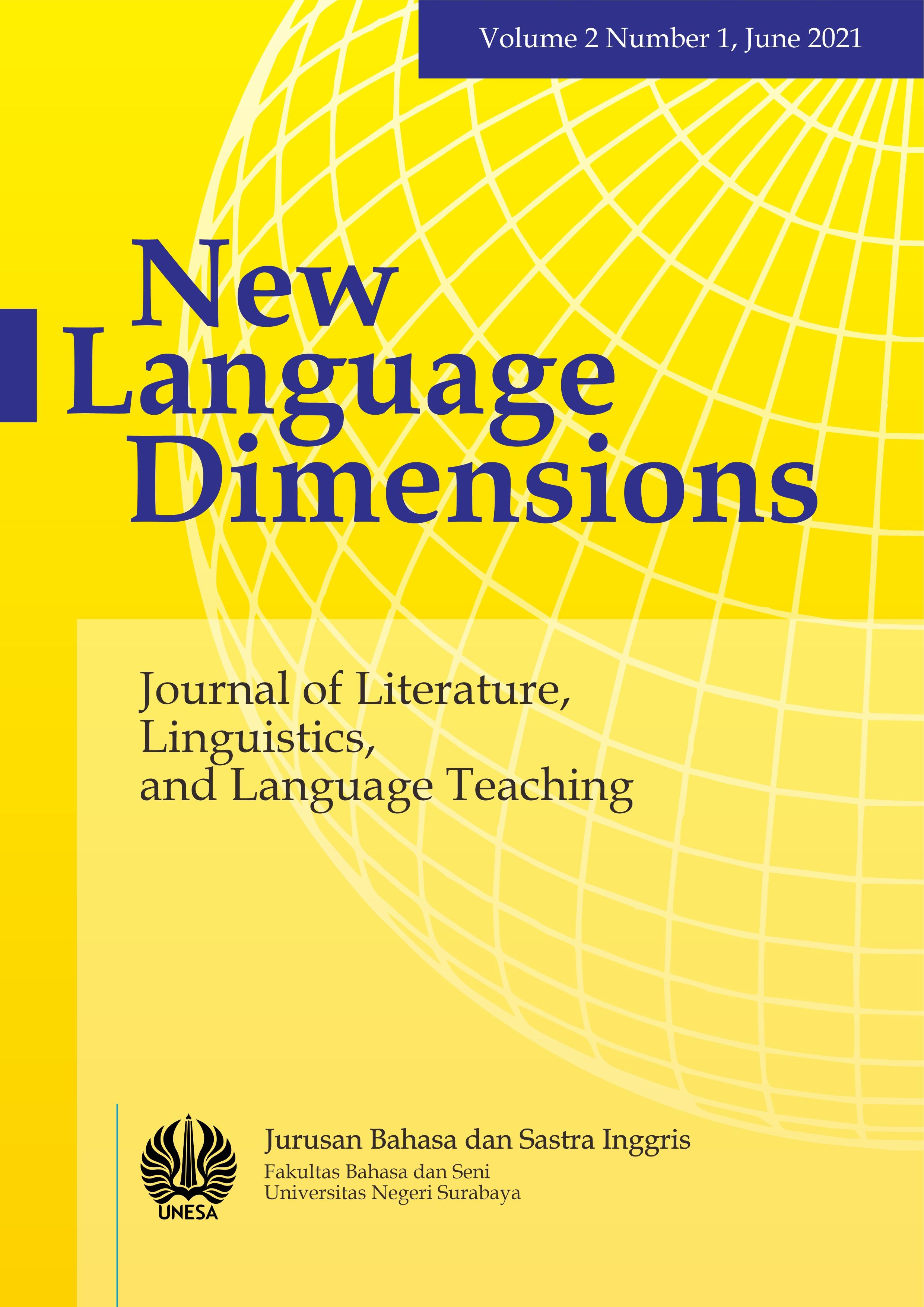 View Vol. 2 No. 1 (2021): New Language Dimensions Vol. 2 No. 1, June 2021